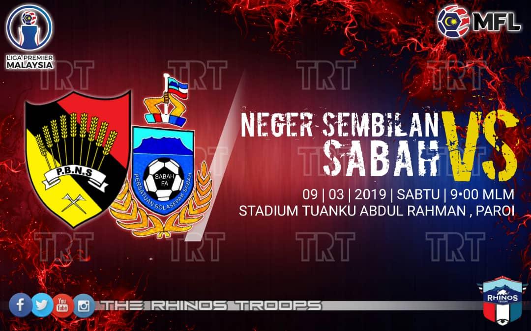Liga Premier 2019: Sabah terus buru kemenangan di Paroi esok!