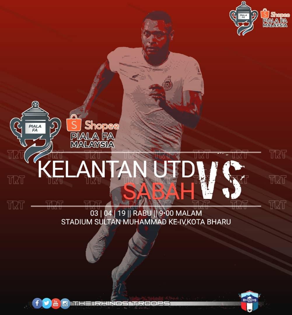 Piala FA: Kelantan United FC akan uji kekuatan Sabah esok