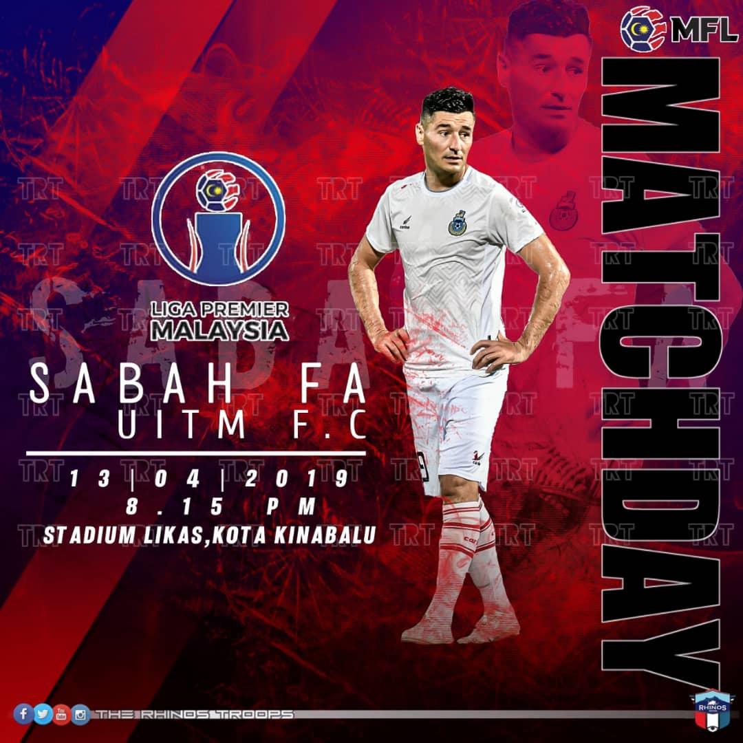 Misi 3 mata penuh: Sabah layani kunjungan UiTM FC esok